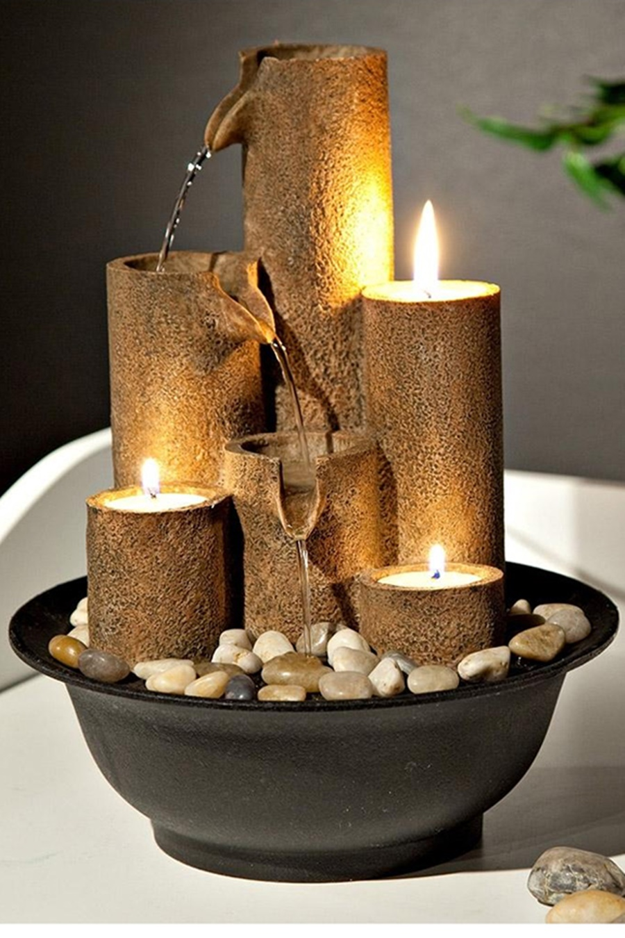 Image of: DIY Tabletop Fountain Ideas