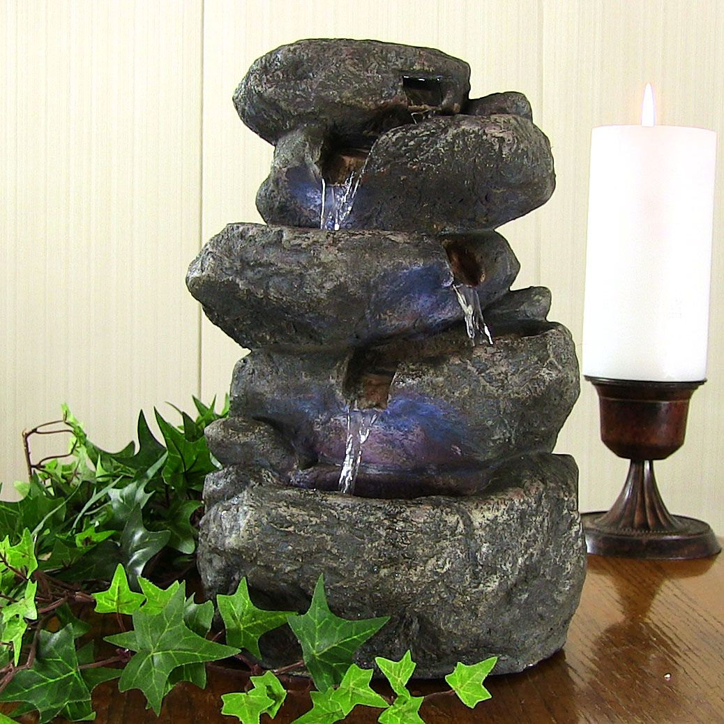 Image of: DIY Tabletop Fountain Stone