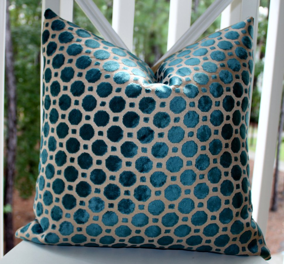 Image of: Dark Turquoise Pillows