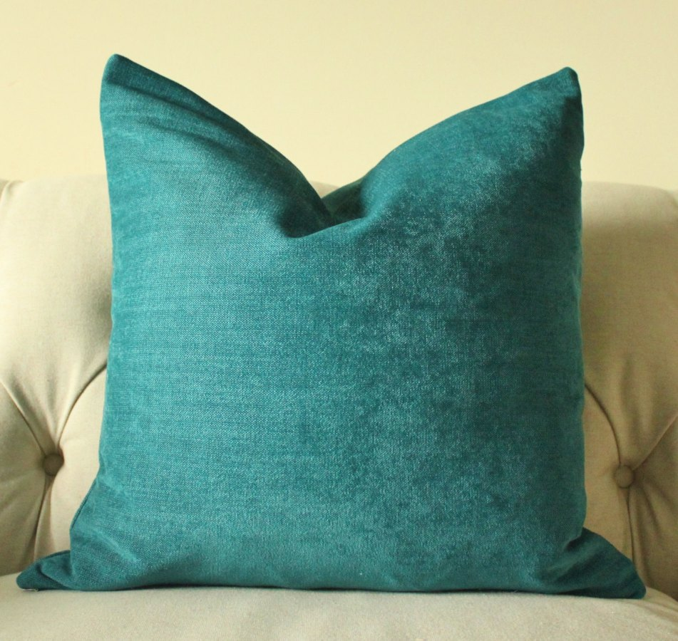 Image of: Dark Turquoise Throw Pillows