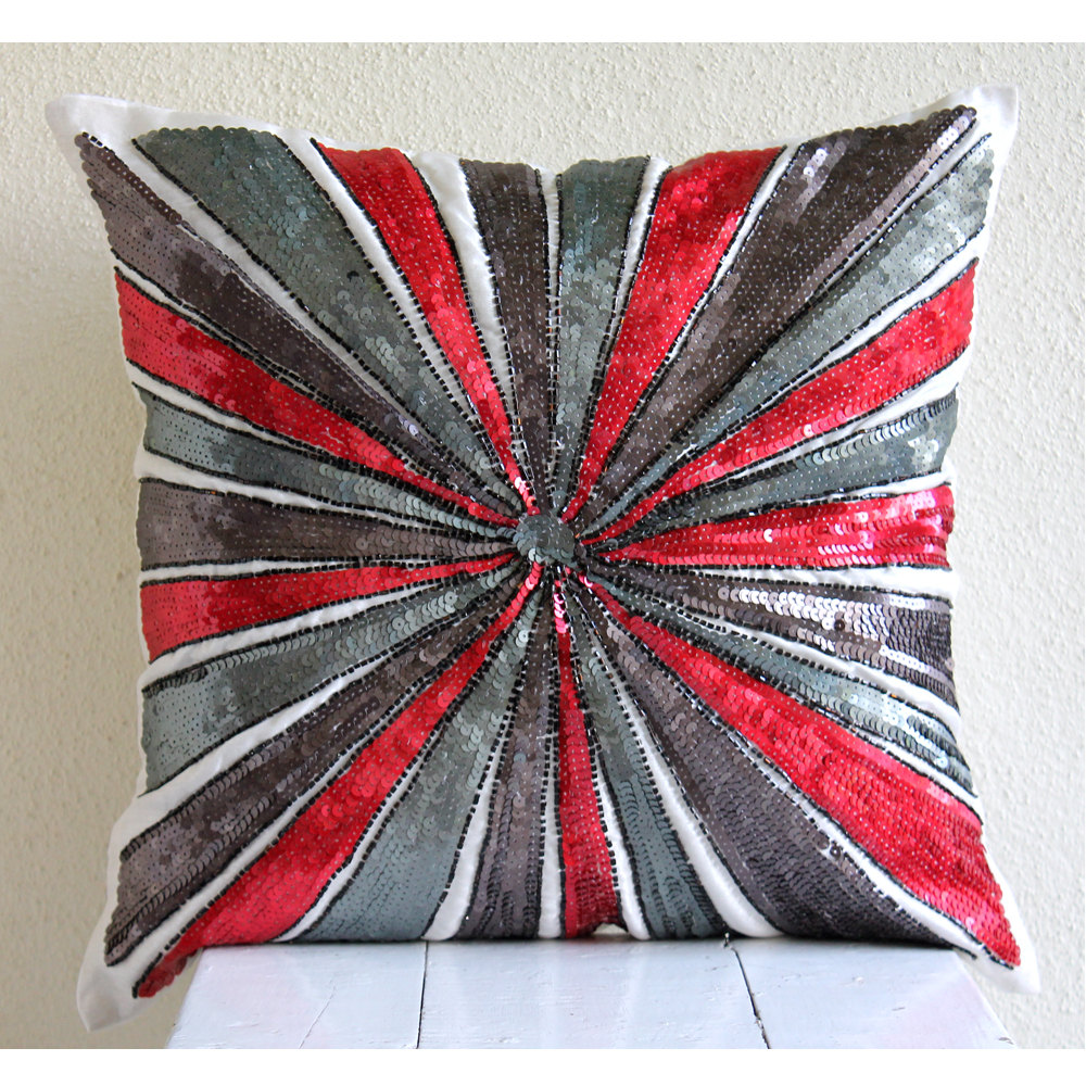 Image of: Decor Red And Grey Throw Pillows
