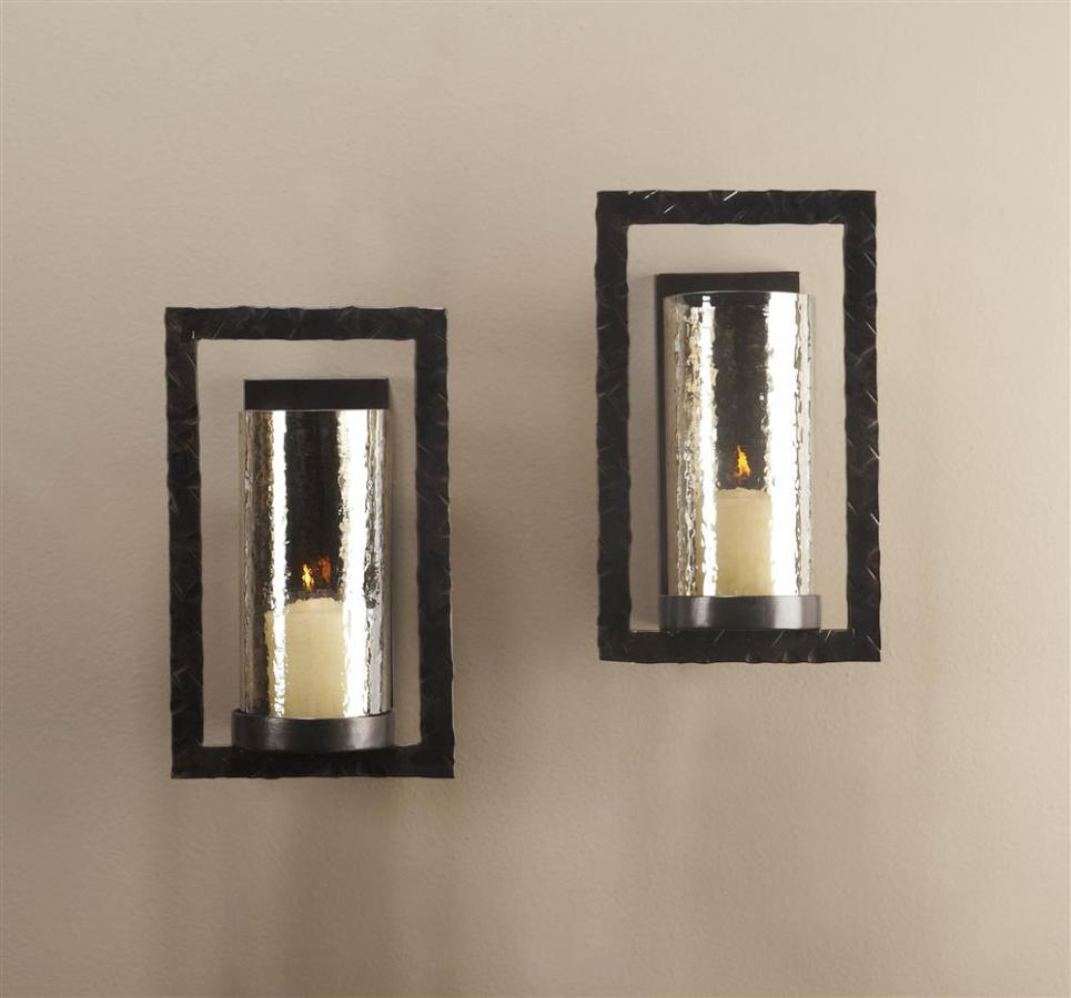 Decorative Bronze Candle Sconces