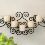 Decorative Candle Wall Sconces Wrought Iron