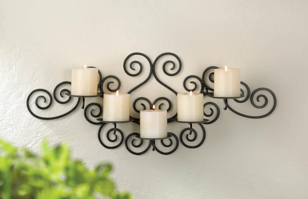 Image of: Decorative Candle Wall Sconces Wrought Iron