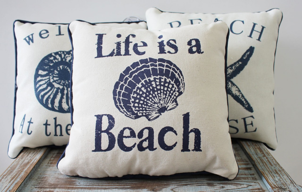 Image of: Decorative Nautical Pillows