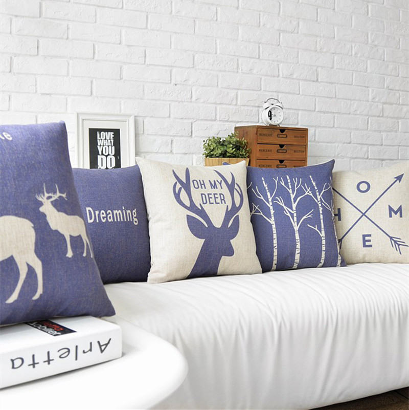 Image of: Decorative Navy Throw Pillows