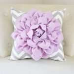 Decorative Purple Lumbar Pillow