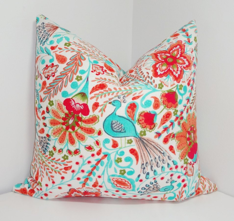 Image of: Decorative Turquoise Throw Pillows
