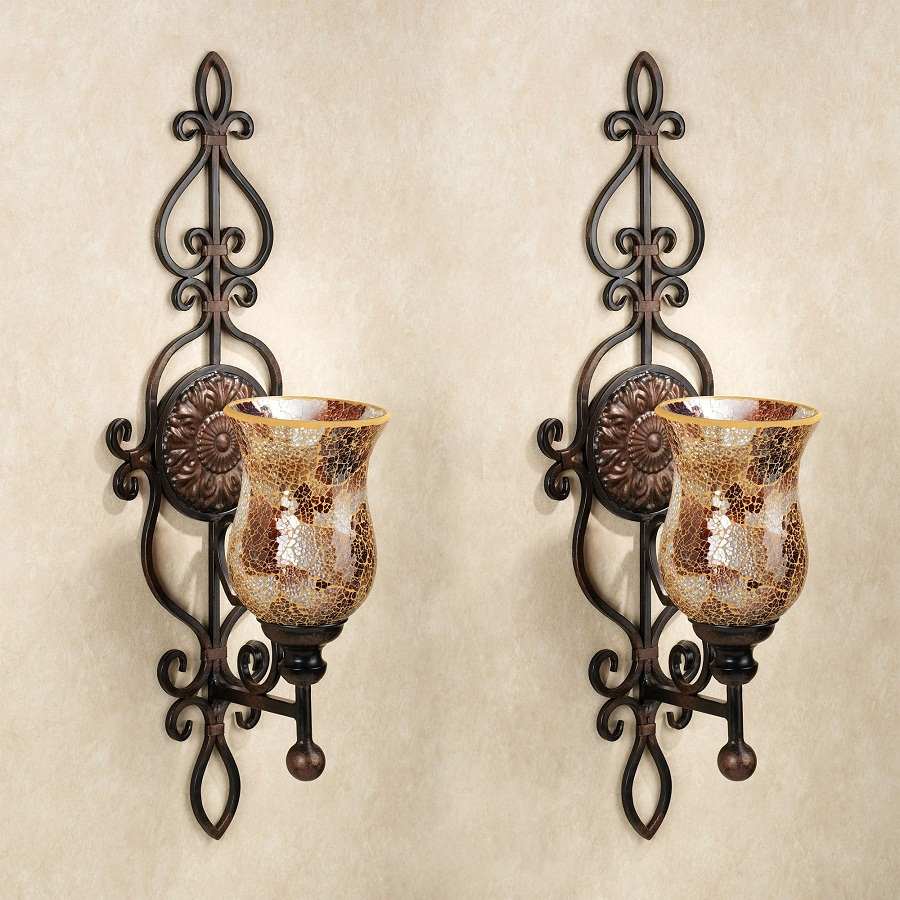 Image of: Decorative Wall Sconces Twin