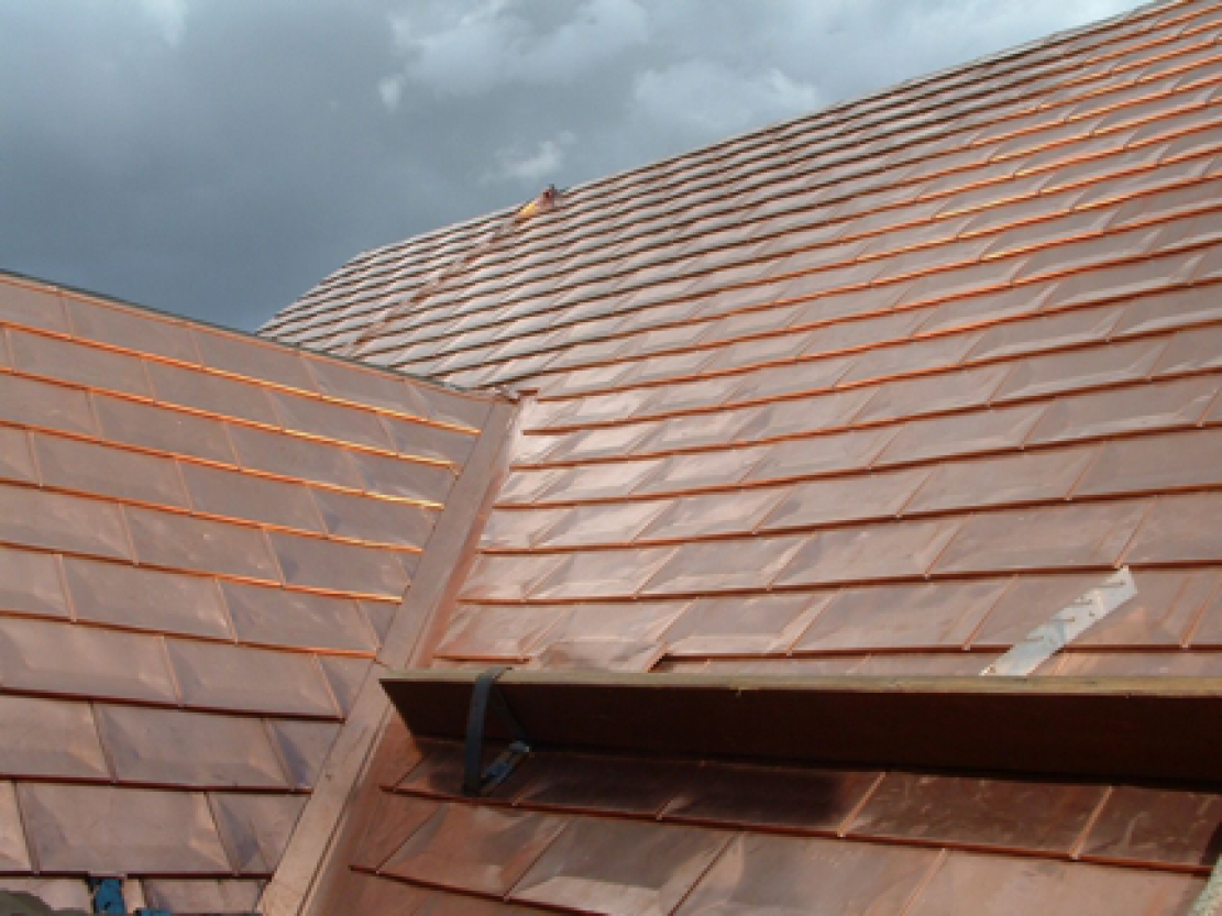 Image of: Design Copper Roof Shingles