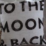 Design To The Moon And Back Pillow