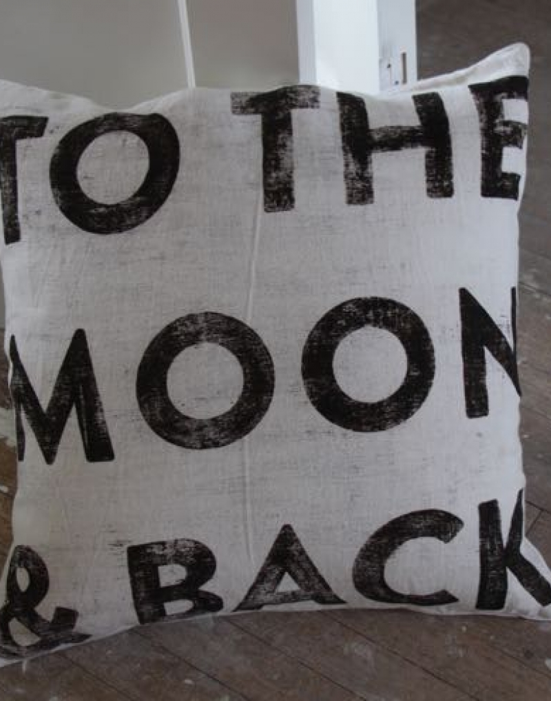 Image of: Design To The Moon And Back Pillow