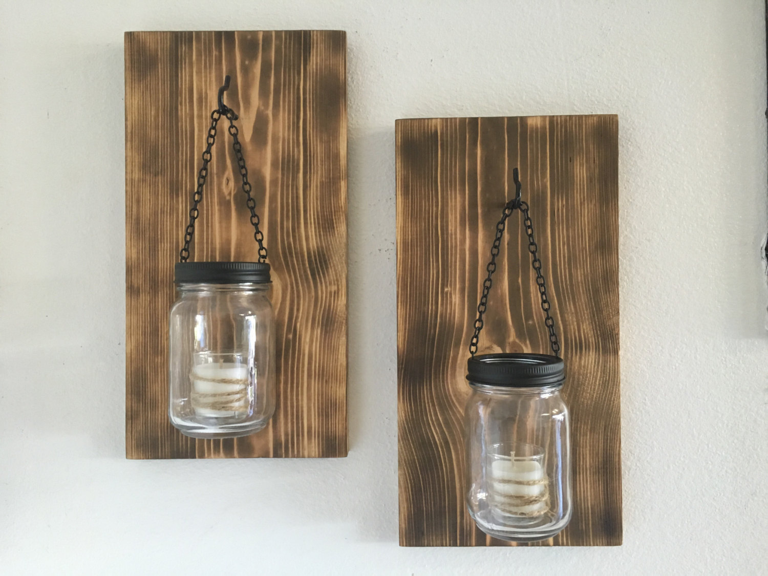 Image of: Diy Candle Holder Sconces