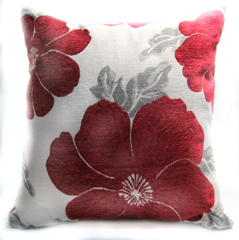 Image of: Diy Red And Grey Throw Pillows
