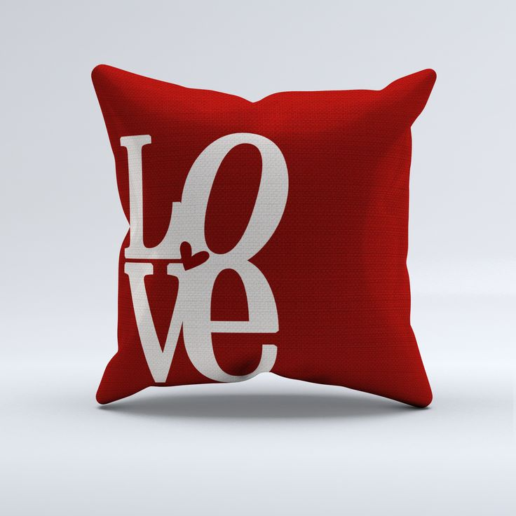 Image of: Diy Red Decorative Pillows