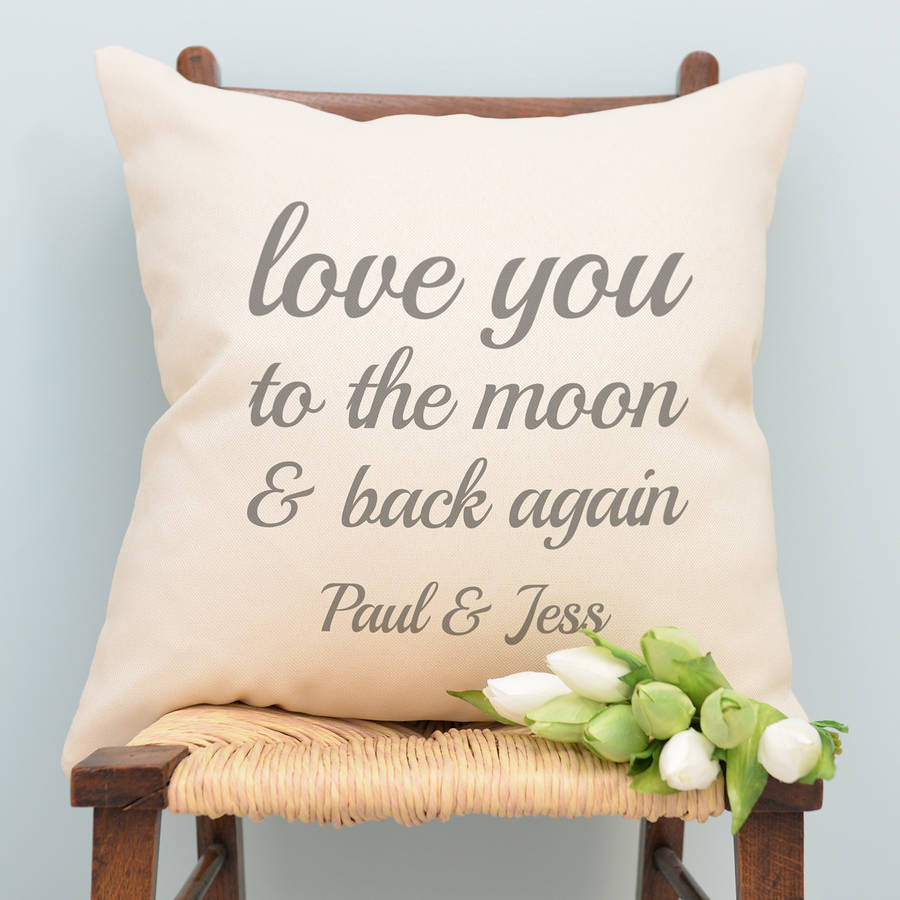 Image of: Diy To The Moon And Back Pillow
