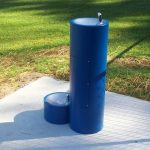 Dog Drinking Fountain Blue