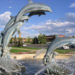 Dolphin Water Fountain Photo