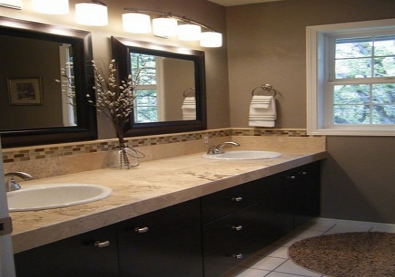 Image of: Double Bathroom Vanity Sconces