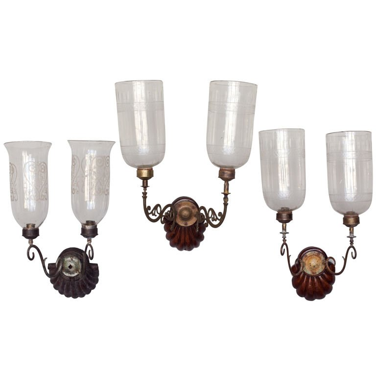 Image of: Double Hurricane Wall Sconce