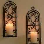 Double Iron Candle Sconce