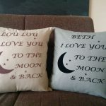 Double To The Moon And Back Pillow