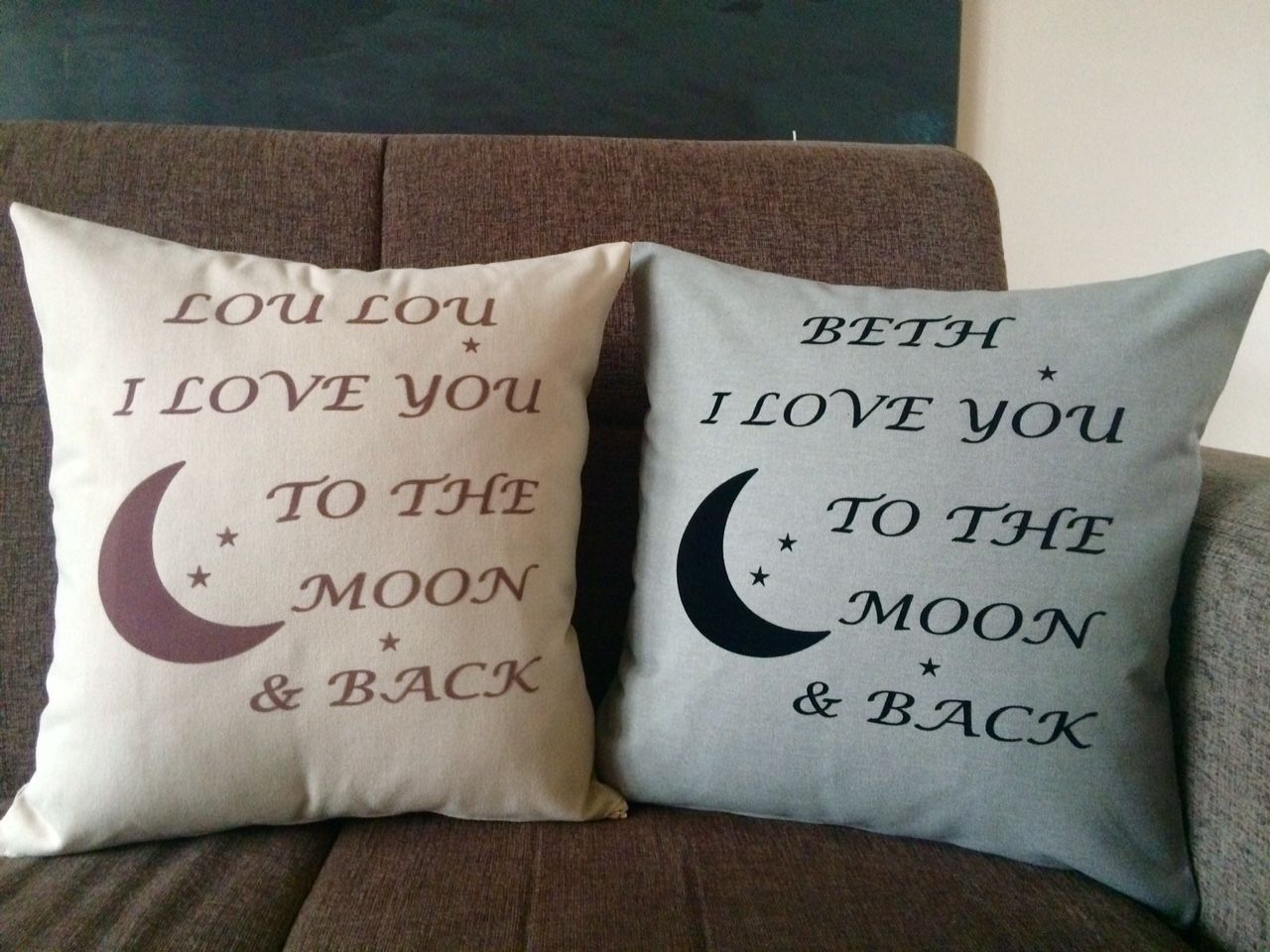 Image of: Double To The Moon And Back Pillow