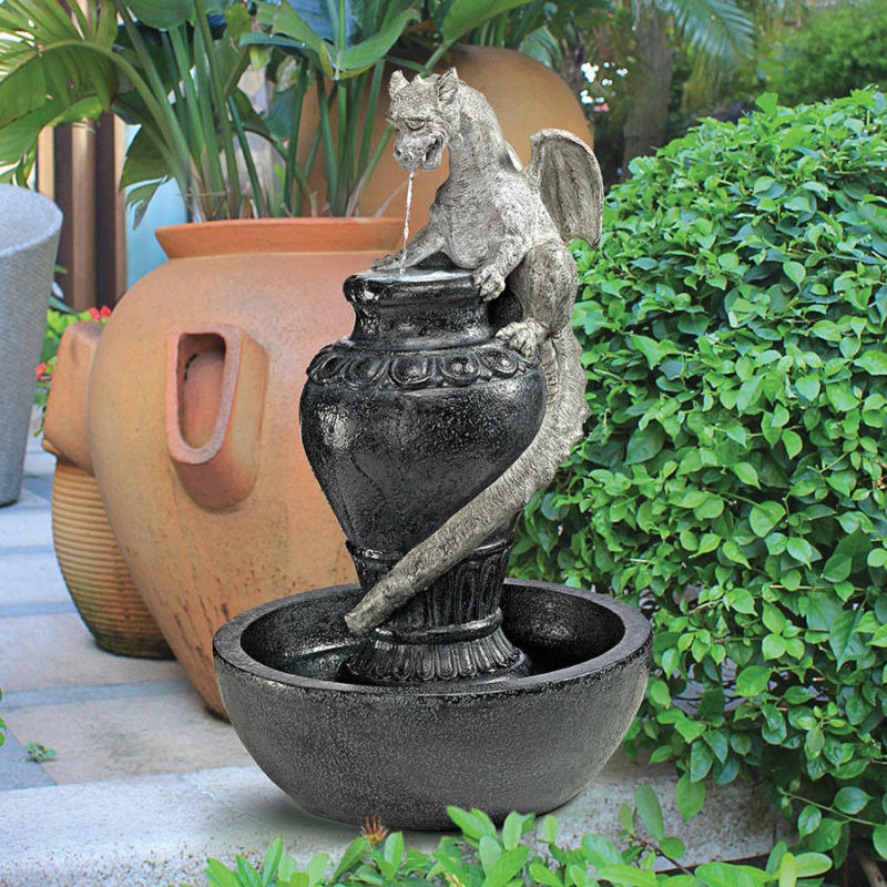 Image of: Dragon Water Fountain Design