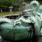 Dragon Water Fountain Green
