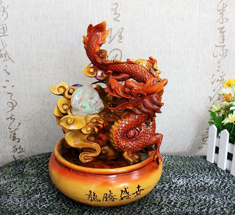 Image of: Dragon Water Fountain Orange