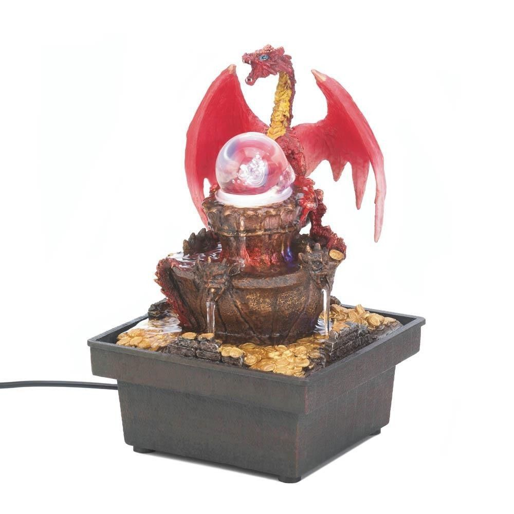 Dragon Water Fountain Red