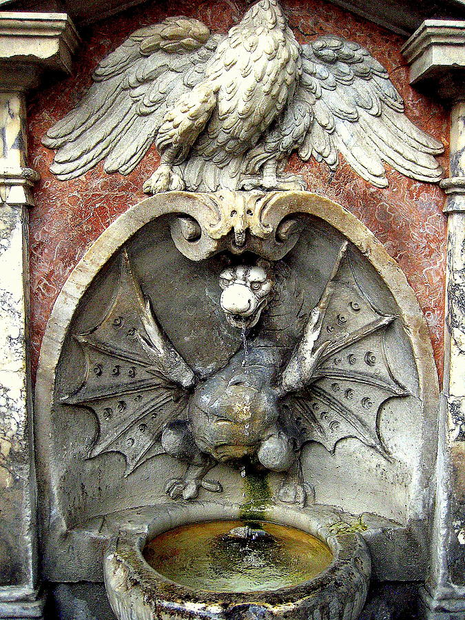 Image of: Dragon Water Fountain Wall