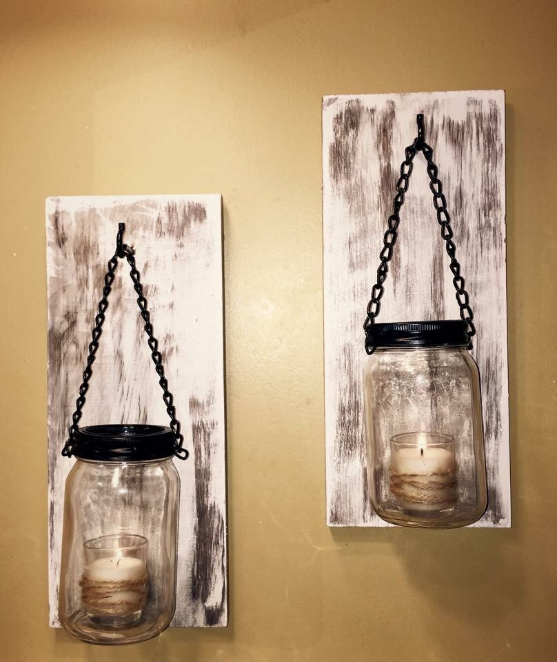 Image of: Dual Farmhouse Wall Sconces
