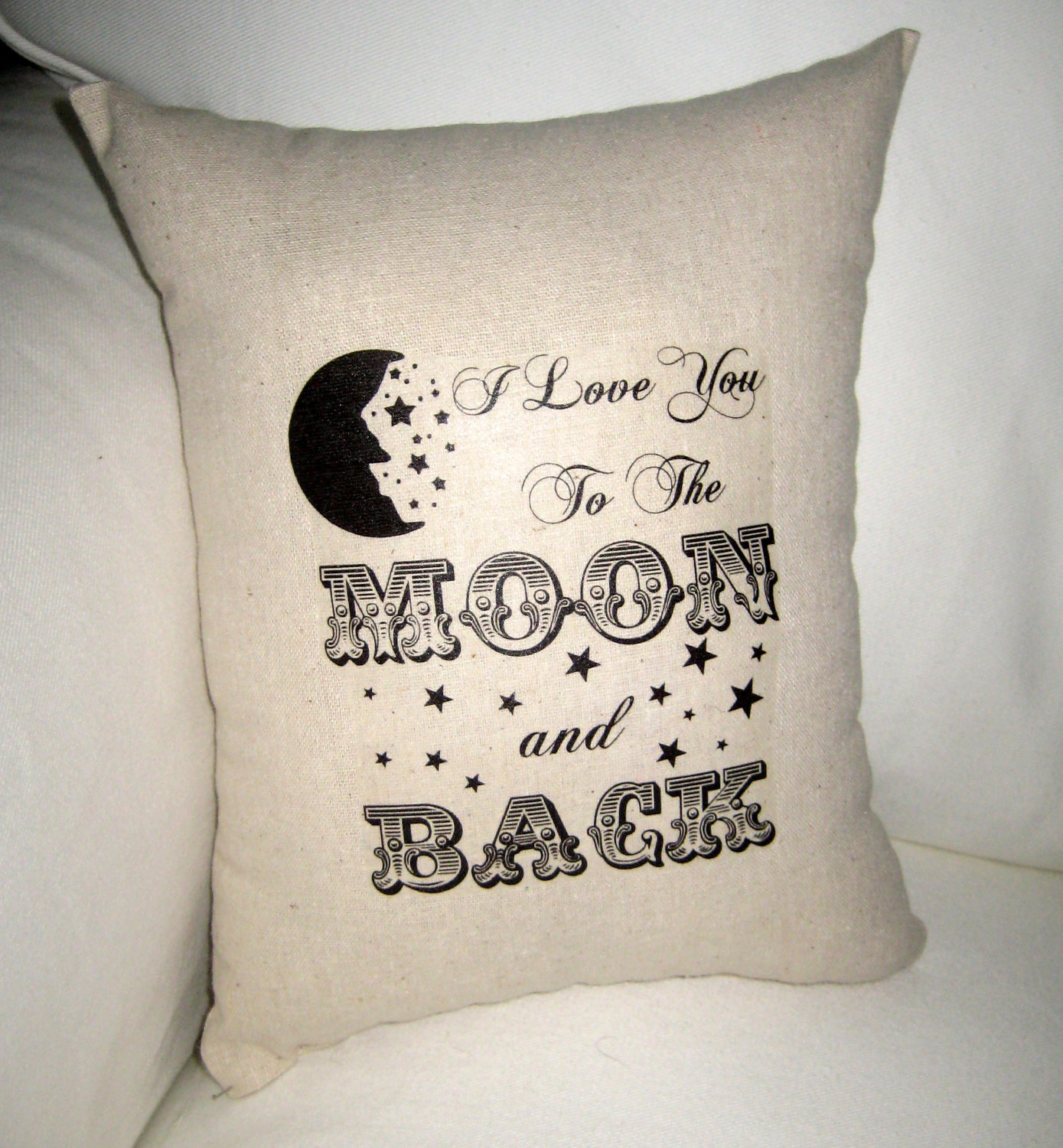 Image of: Easy To The Moon And Back Pillow