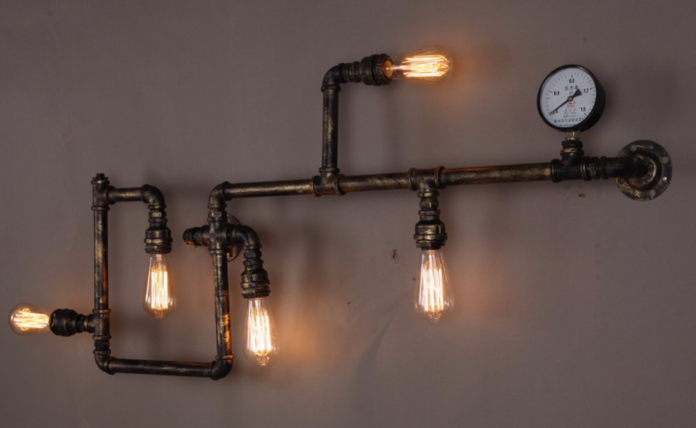 Image of: Edison Bulb Wall Sconce Art