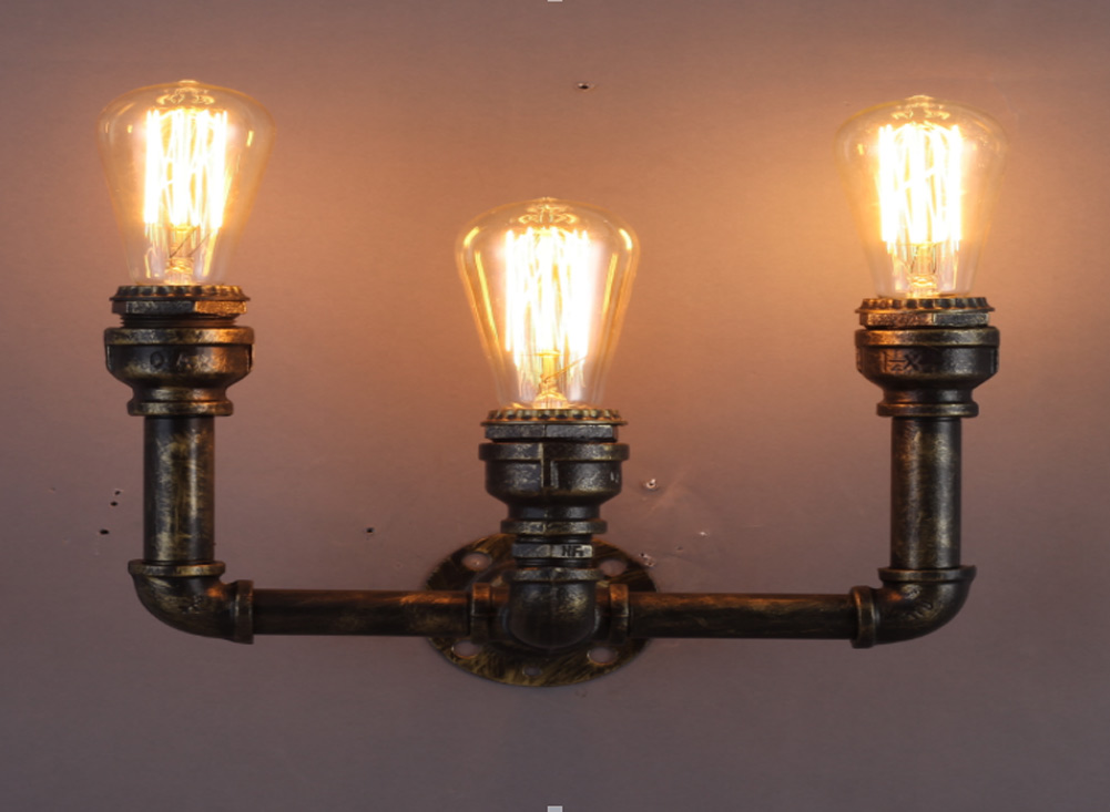 Image of: Edison Bulb Wall Sconce Fixtures