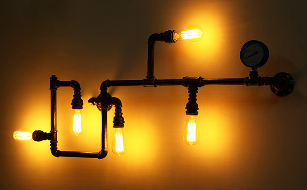 Image of: Edison Bulb Wall Sconce Kits