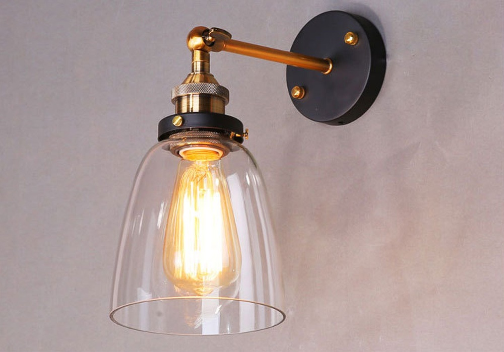 Image of: Edison Bulb Wall Sconce Light Fixtures