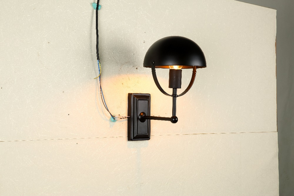Image of: Edison Bulb Wall Sconce with Shade