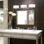 Elegant Bathroom Sconces Brushed Nickel