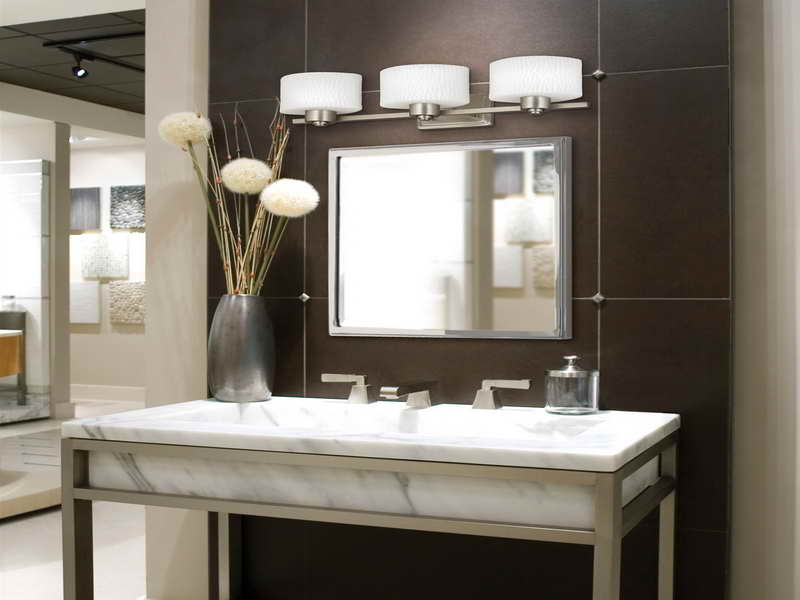 Image of: Elegant Bathroom Sconces Brushed Nickel