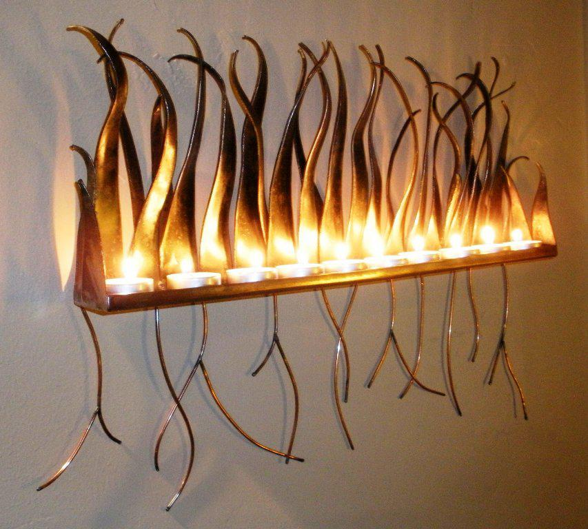 Image of: Elegant Candle Sconces Wall Decor