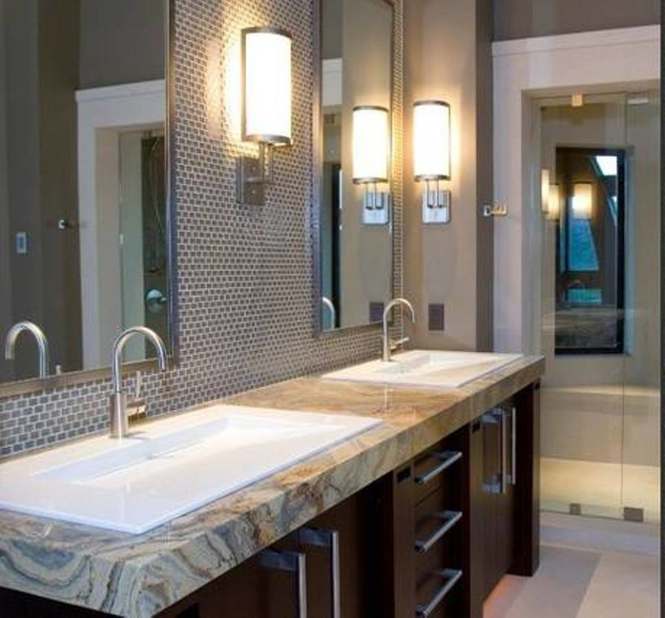 Image of: Elegant Chrome Bathroom Sconces