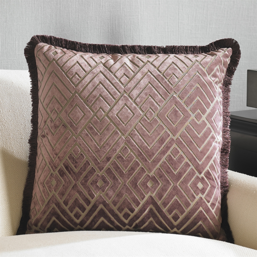 Image of: Elegant Purple Decorative Pillows