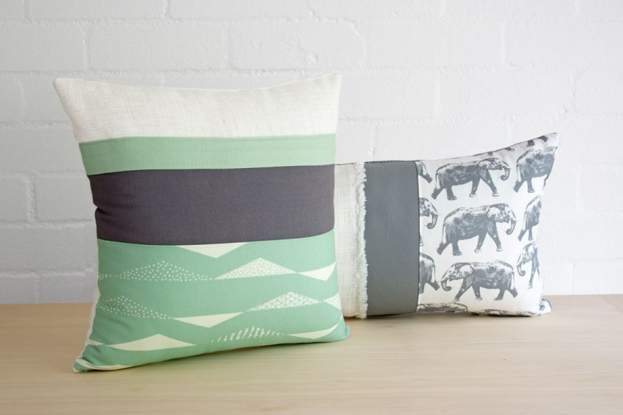 Image of: Fabulous Mint Green Throw Pillows Gallery