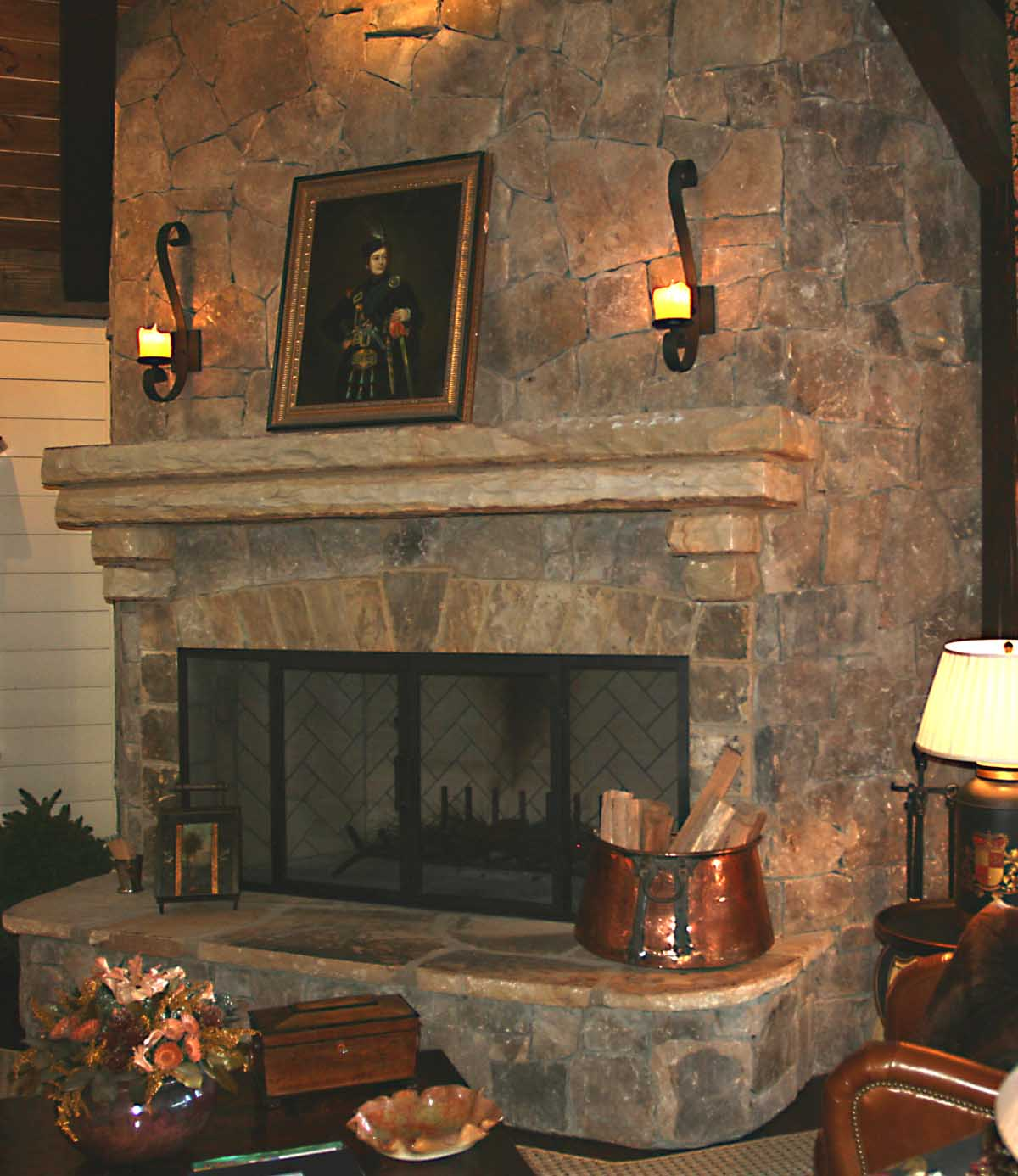 Image of: Fireplace Sconces Candle Ideas