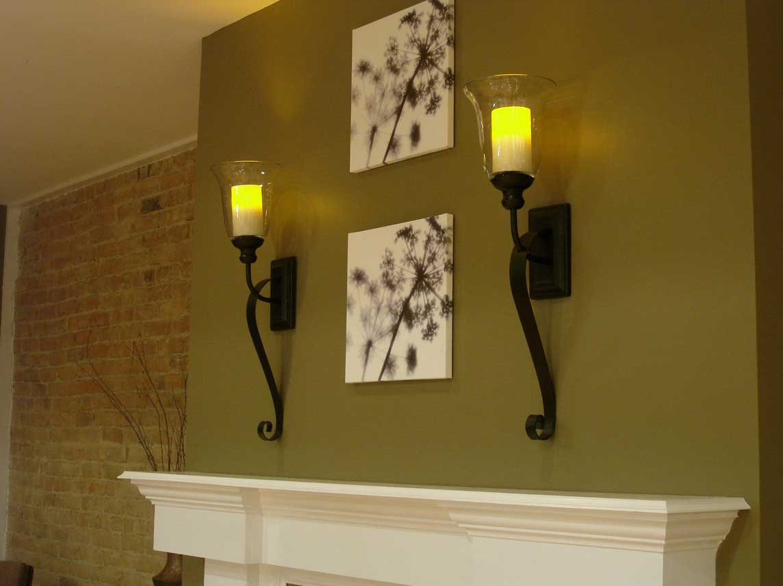 Image of: Fireplace Sconces Candle