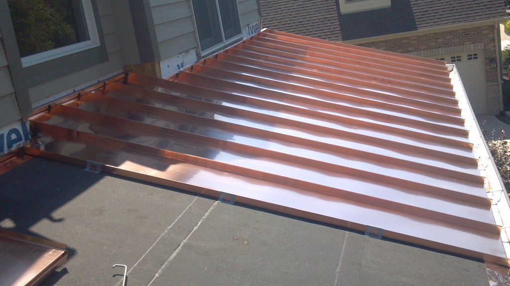 Image of: Flat Copper Roof Panels for Sale