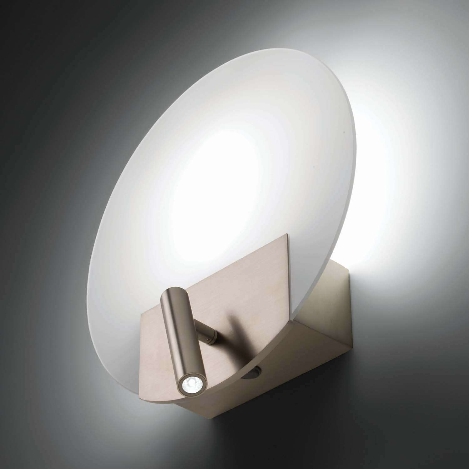 Image of: Flat Wall Sconce Glass