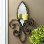 Fleur De Lis Candle Sconces Wall Decor